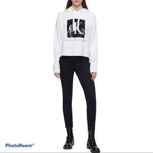 NWOT Hoodie by Calvin Klein Jeans Sequin Logo Sz L
